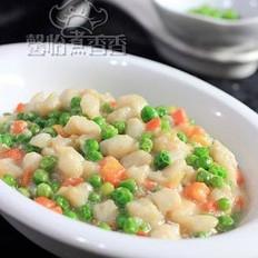 豌豆炒鱼丁