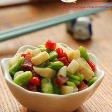 腊肉蚕豆笋丁
