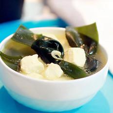 虾米海带豆腐汤