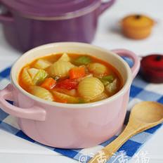 蔬菜意面浓汤