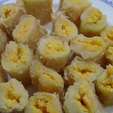 蒸咸蛋土豆卷