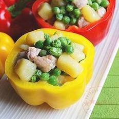 豌豆猪肉土豆丁的做法