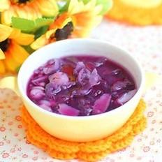 紫薯银耳莲子百合糖水