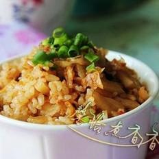 五花肉辣白菜炒饭