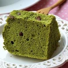 抹茶蜜豆戚风蛋糕