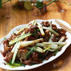 荞菜萝卜干炒肉片