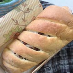 蜜豆面包的做法