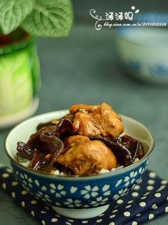 木耳冬菇蒸鸡的做法