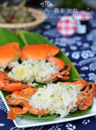 粽香糯米蒸蟹的做法