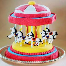 旋转木马翻糖蛋糕