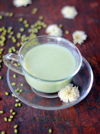 菊花绿豆浆的做法