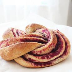 全麦紫薯漩涡面包