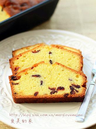 蔓越莓磅蛋糕的做法