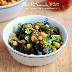 卤海带黄豆