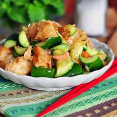 黄瓜拌油条的做法