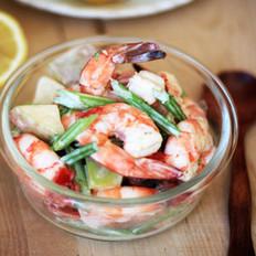 柠香鲜虾杂菜沙拉的做法