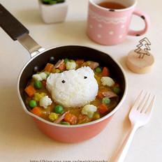 蔬菜海鲜咖喱