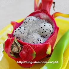 火龙果椰汁西米露