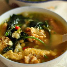 耙豌豆酥肉汤