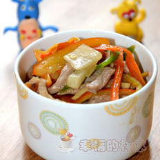 酸萝卜炒肉丝
