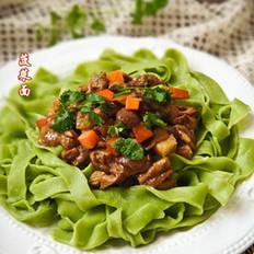 菠菜香菇肉酱面
