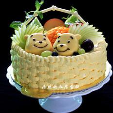 俏皮果篮蛋糕