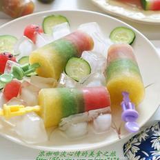 三色果蔬冰棒