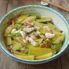 虾酱蒜头焖南瓜