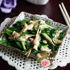 蛏肉炒韭菜