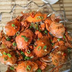 金银蒜粉丝蒸螃蟹