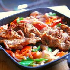 黑椒香煎猪颈肉