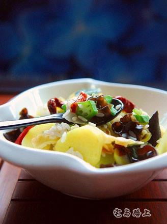 黄秋葵烩饭的做法