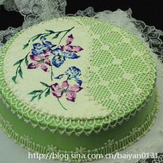 手绘蕾丝蛋糕