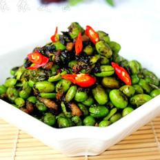榄菜肉丁炒毛豆