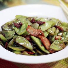 大扁豆炒五花肉
