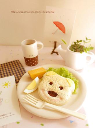 小熊三明治的做法