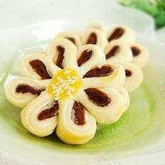 豆沙菊花酥