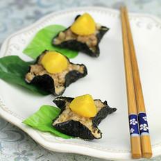 咸蛋黄紫菜包肉
