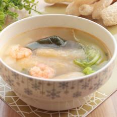 竹荪鲜虾豆腐海带汤