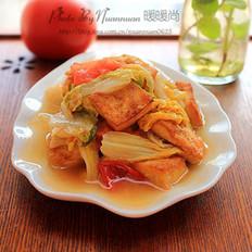 西红柿娃娃菜炒豆腐