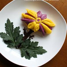 南瓜菊花花卷