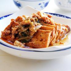 辣白菜肉末炖豆腐