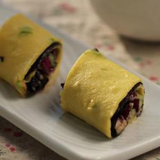 金枪鱼蔬菜早餐卷饼