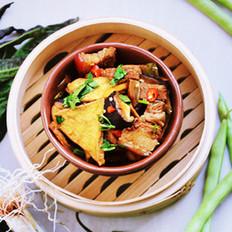 香辣豆腐腩肉煲