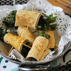 香菜豆皮卷