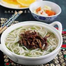 香菇肉丝汤面
