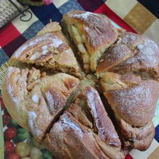 脆皮红糖炼乳面包