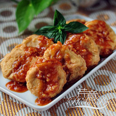 酸甜杏鲍菇肉盒