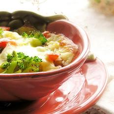 西兰花蘑菇焗饭