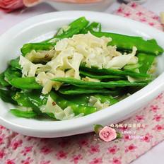 蒜香仙菇荷兰豆